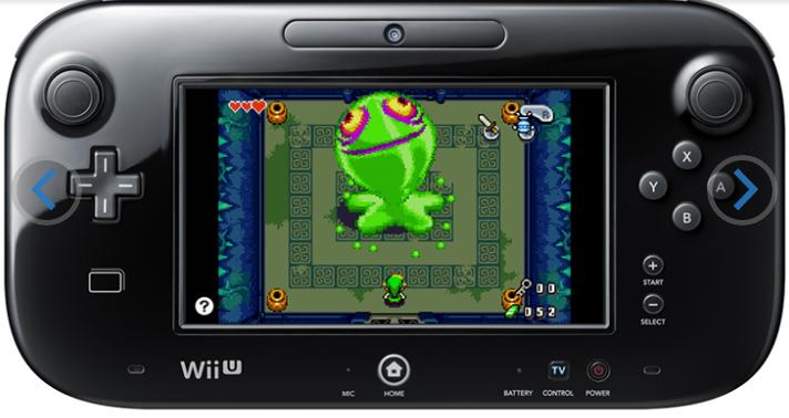 塞尔达传说缩小帽登陆WiiU