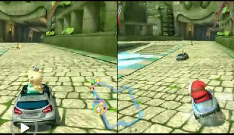 马里奥赛车8奔驰赛车双对战视频展示