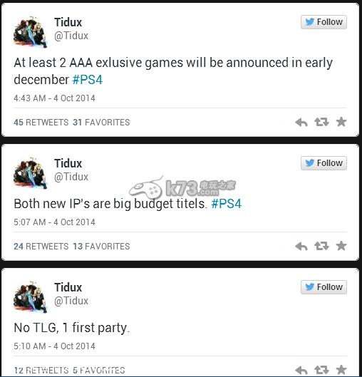 《战神4》?PS4二款独占AAA级大作12初公布