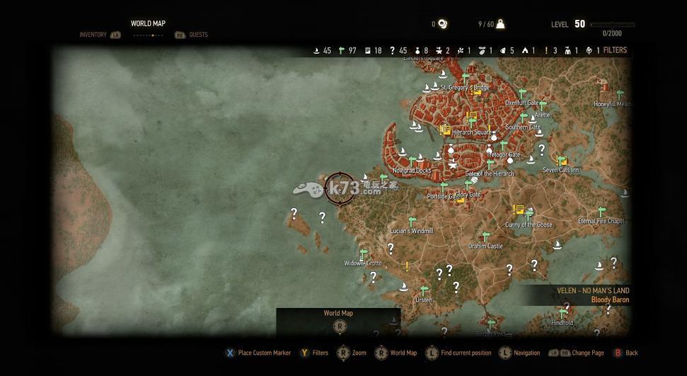 《巫师3狂猎》世界地图曝光