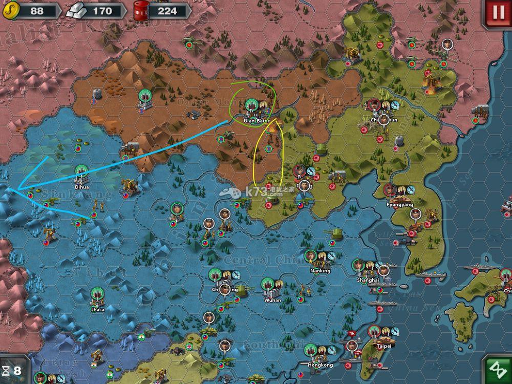 世界征服者3征服39及43打法威霆键盘色线图片
