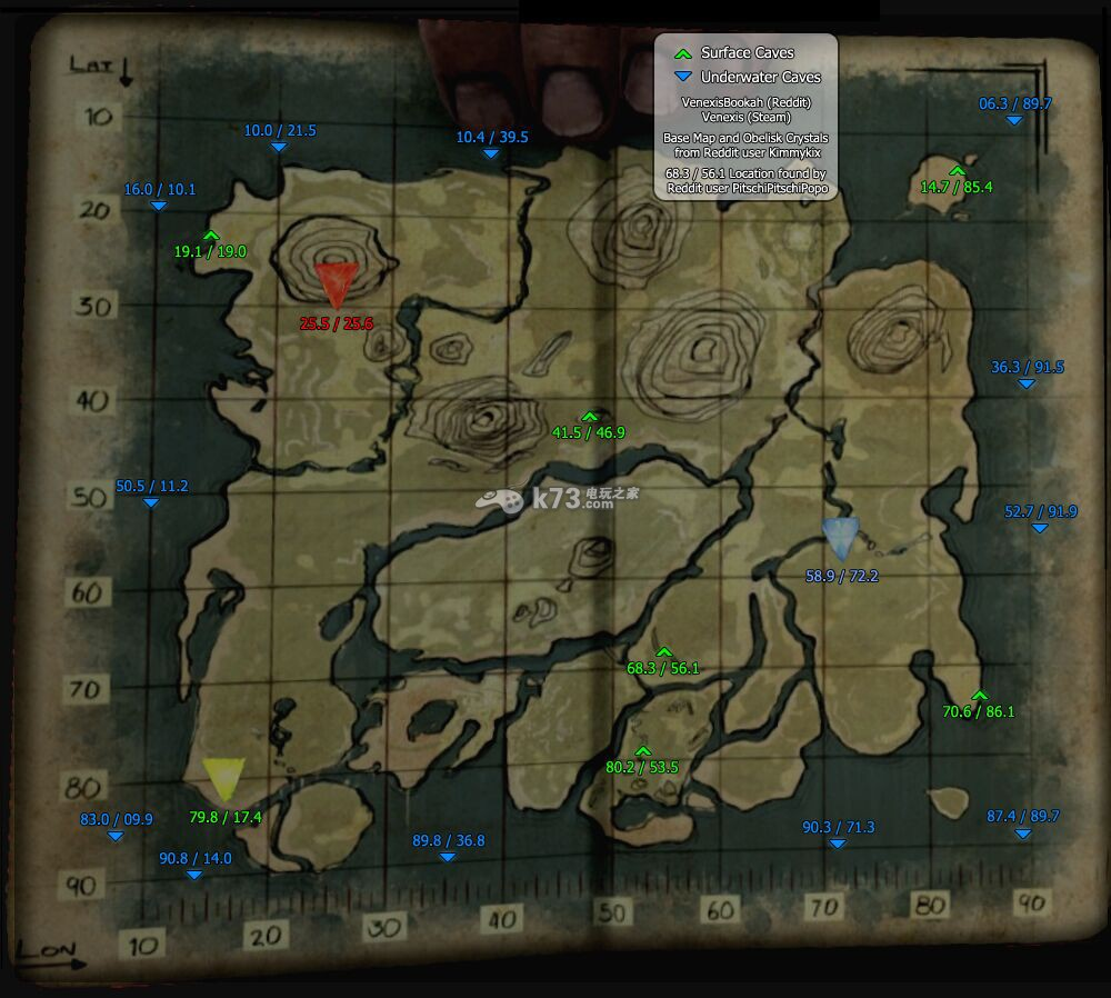 方舟生存进化矿洞地图一览