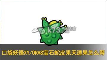 口袋妖怪XY/ORAS宝石蛇皮果天速果怎么得