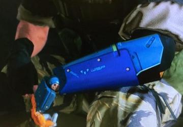 《合金装备5幻痛》Snake蓝色Wisp字样机械手臂