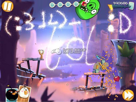 愤怒的小鸟2 53关过法图解 _k73电玩之家