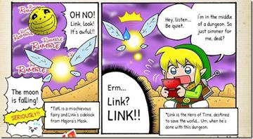 任天堂发行《塞尔达传说姆吉拉的假面》官方搞笑漫画