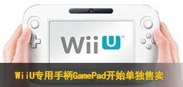 WiiU专用手柄GamePad单独贩卖开始 售价12800日元