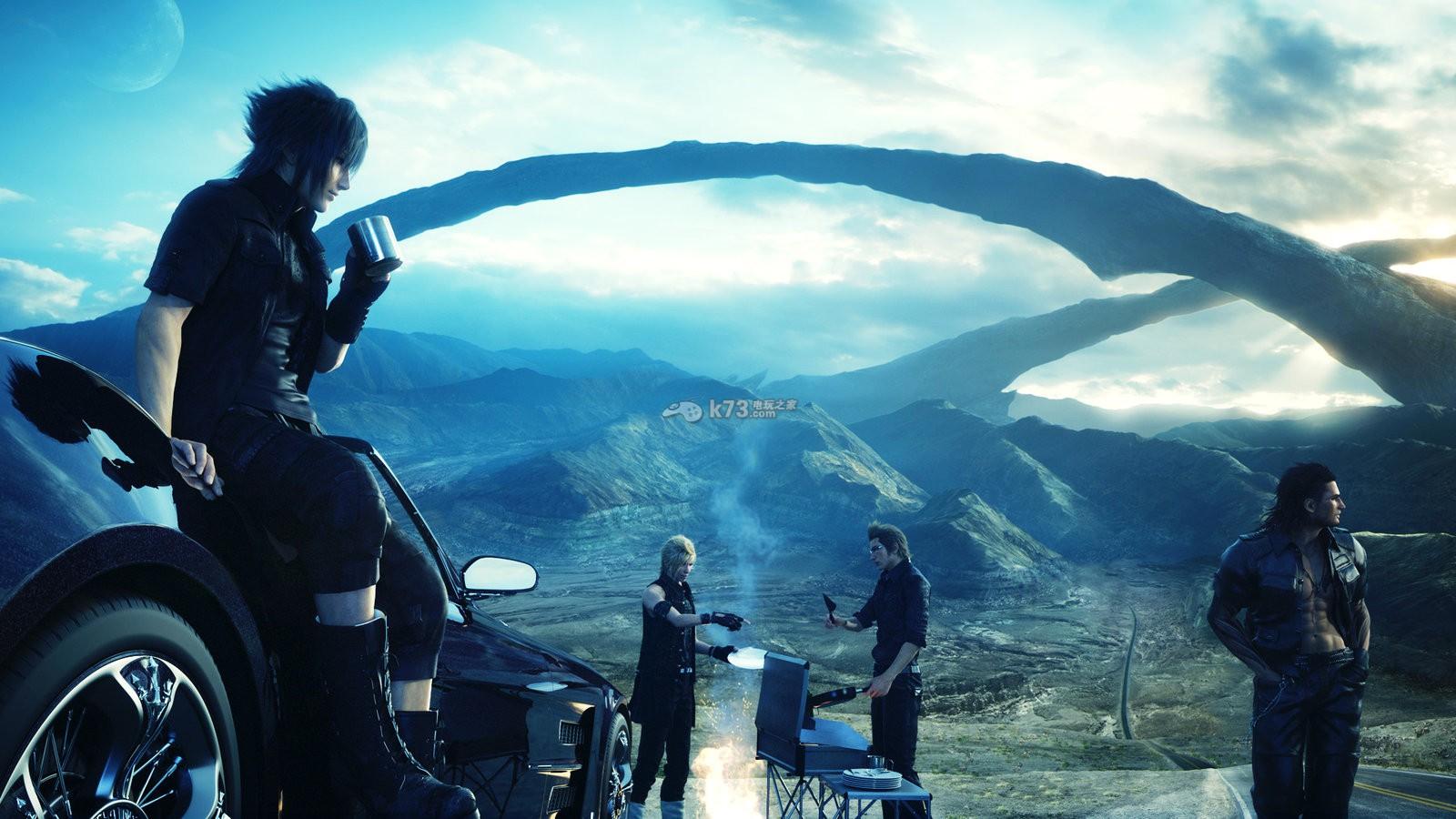 Final Fantasy Xv Logo Uhd 4k Wallpaper: 最终幻想15油画图片大全_最终幻想15油画图片下载