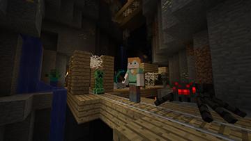 《我的世界wiiu版》支持四人分屏游戏:网联可8人!