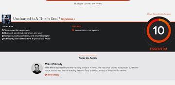《神秘海域4》获Gamespot满分10分评分!