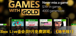 Xbox Live金会员2016年9月免费游戏:《地平线1》