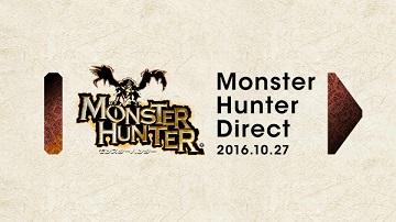 任天堂《怪物猎人》直面会10月27日举行!