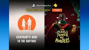 美服PSN会员2016年11月免费游戏:《致命怪兽塔》等