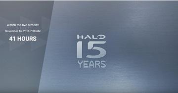 《光环》系列15周年直播活动11月15日举行