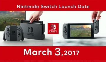 Nintendo Switch不锁区 发售日&售价公开
