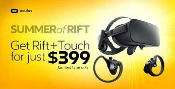 Oculus Rift降价促销 组合套仅售399美元