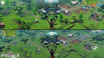 《堡壘之夜Fortnite》iPhoneX vs Xbox One X畫質對比視頻