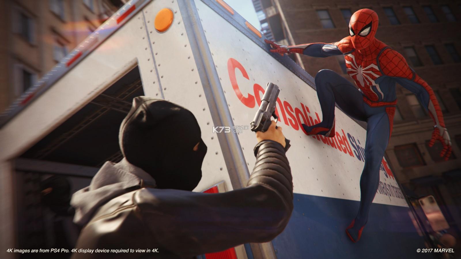 曾打造了《日落过载》、《瑞奇与叮当》的Insomniac Games今次与漫威联手,推出《蜘蛛侠》PS4独占新作。本作将会还原出蜘蛛侠的强大能力,为玩家带来从未有过的《蜘蛛侠》游戏体验。在这款游戏中,将会有一定的跑酷元素,而活用环境也将成为攻关的关键。
