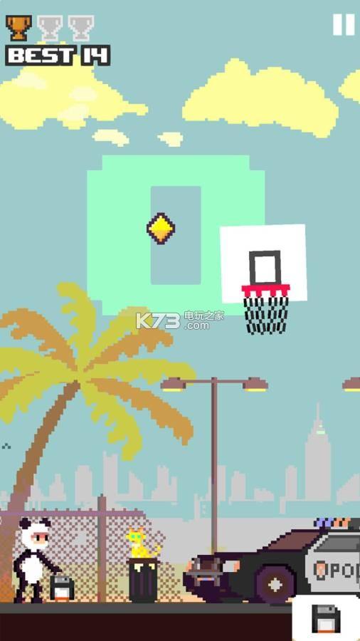是一款多人竞技游戏 画风可爱萌系具有趣味性 篮球英雄安卓版简介