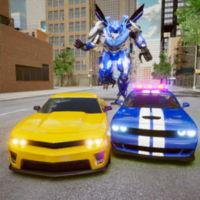 警车追逐机器人大战游戏下载v1.0