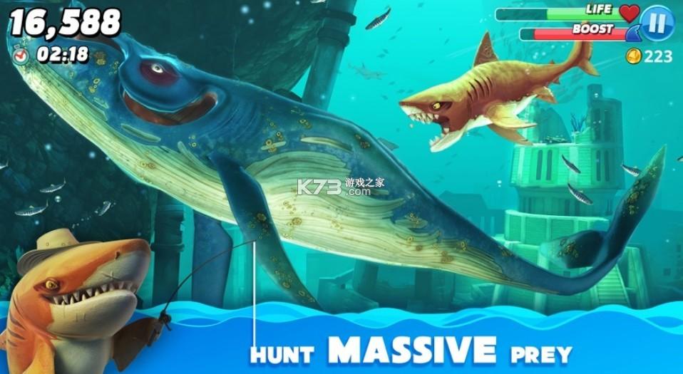 饥饿鲨世界 v4.2 英语版游戏 截图