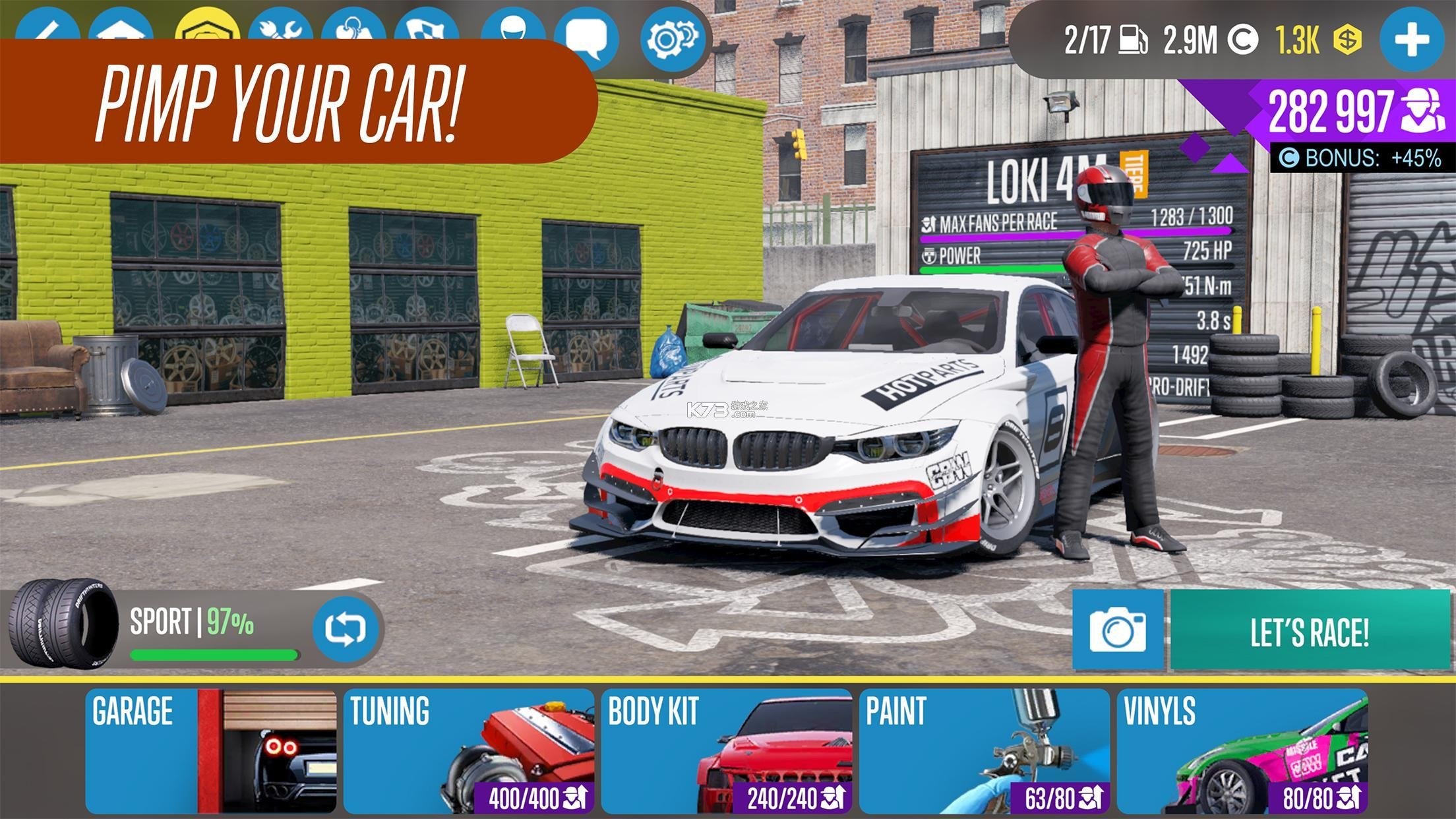 carx drift racing 2 v1.14.0 汉化破解版 截图